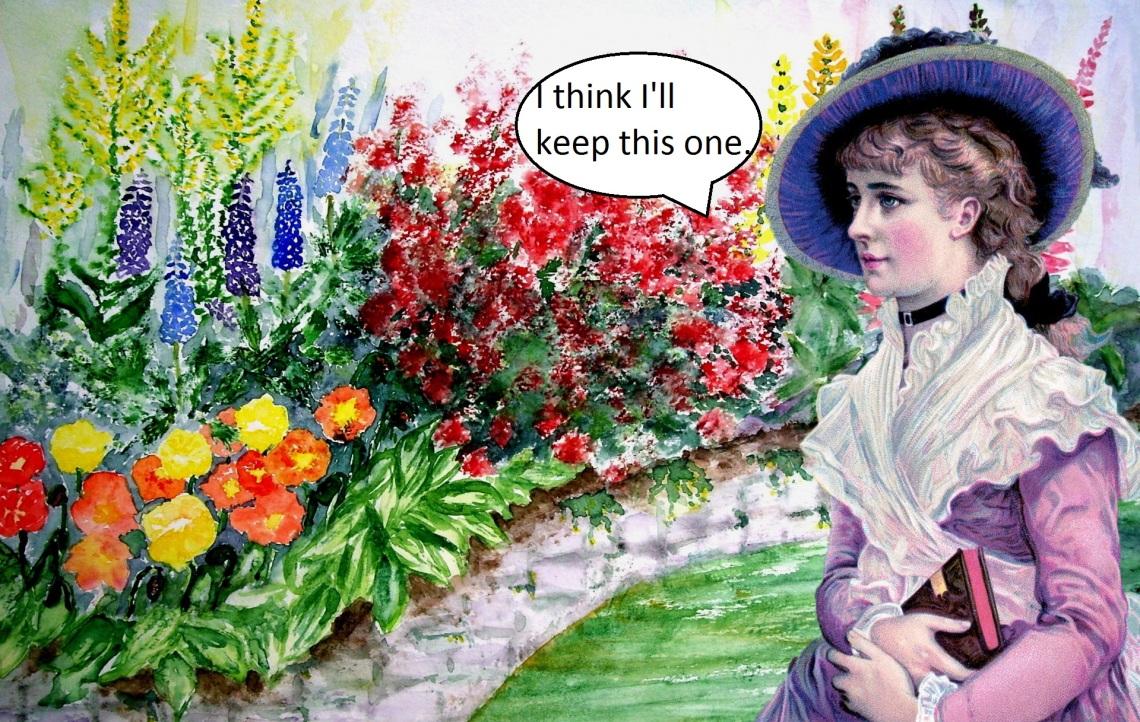 vintage-lady-flower-garden